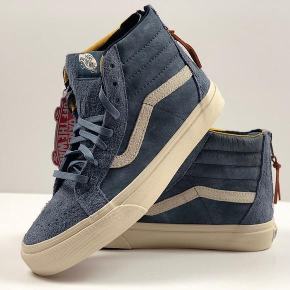 b2e09a25487c96 Vans SK8 - Hi Zip DX Varsity Blue Sneakers.